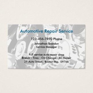 Cartes De Visite Atelier de réparations automatiques