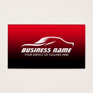 Cartes De Visite Automobile détaillant des véhicules à moteur noir