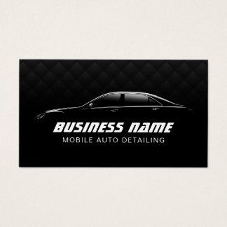 Cartes De Visite Automobile détaillant la voiture noire de luxe des