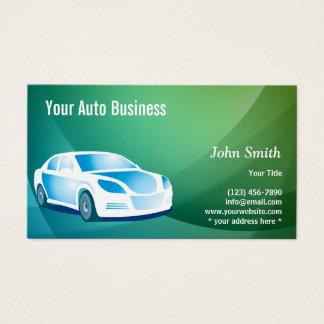 Cartes De Visite Automobile moderne détaillant la voiture