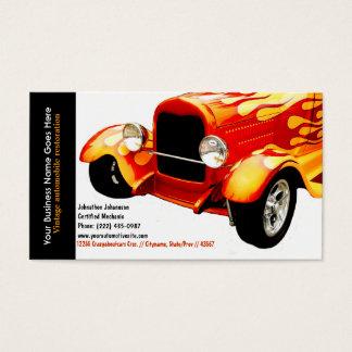 Cartes De Visite Automobile vintage reconstituée par flammes