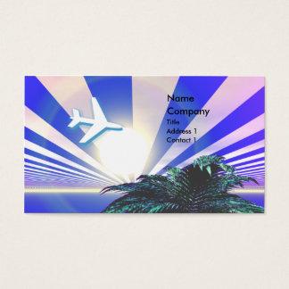 Cartes De Visite Bleu de voyage d'île - affaires