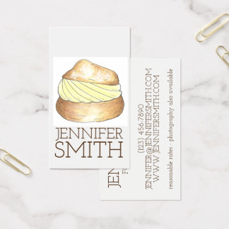 Cartes De Visite Blogger crème de nourriture de boulangerie de chef