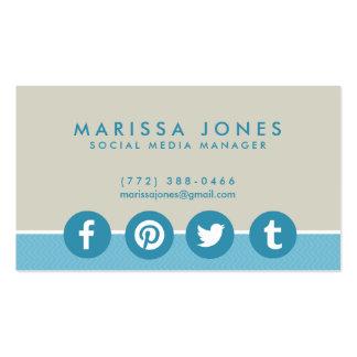Cartes de visite bronzages bleus de directeur carte de visite standard