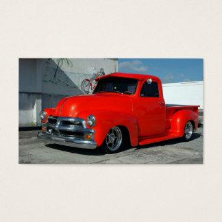 Cartes De Visite Camion pick-up customisé par rouge