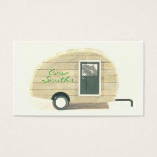 Cartes De Visite Campeur vintage customisé de larme bronzage