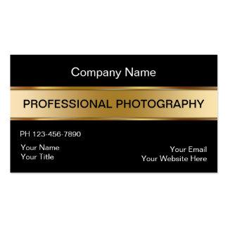 Cartes de visite chics de photographe carte de visite standard