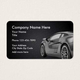 Cartes De Visite Conception des véhicules à moteur de thème