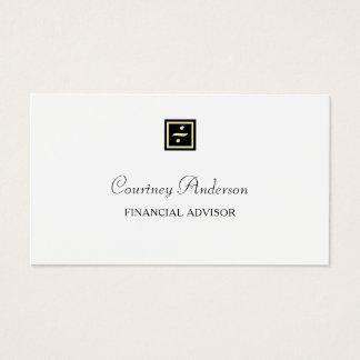 Cartes De Visite Conseiller Financier D39or Logo Noir 233