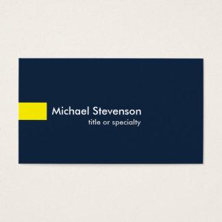 Cartes De Visite Consultant en matière unique moderne de jaune de