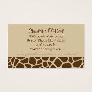 Cartes De Visite copie de girafe bronzage
