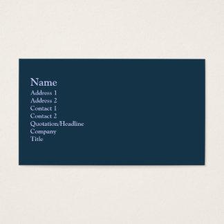 Cartes De Visite Couleur turquoise foncée