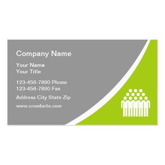 Cartes de visite d'agence de personnel de Temp Carte De Visite Standard