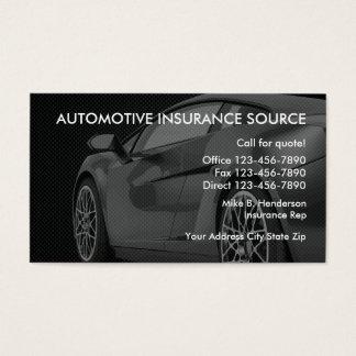 Cartes de visite d'agent d'assurance automobile