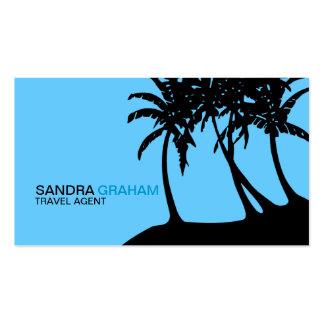 Cartes de visite d'agent de voyage carte de visite standard