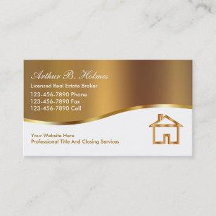 Cartes De Visite Dagent Immobilier