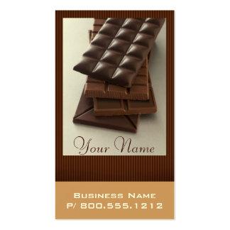 Cartes de visite d'amant de chocolat cartes de visite professionnelles