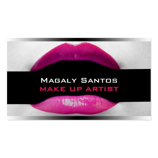 Cartes de visite d'artiste de maquillage cartes de visite personnelles
