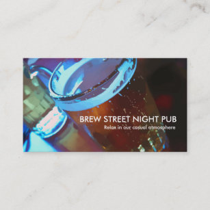 Cartes De Visite Barre Et Pub