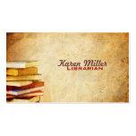 Cartes de visite de bibliothécaire cartes de visite professionnelles
