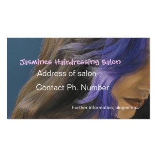 Cartes de visite de bleu de salon de coiffure de b carte de visite standard