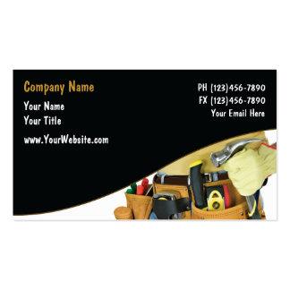 Cartes de visite de bricoleur modèle de carte de visite