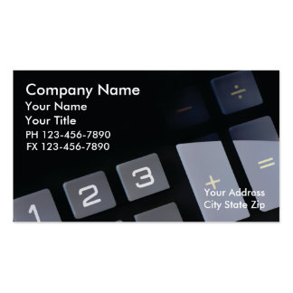 Cartes de visite de comptable carte de visite