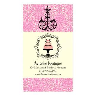 Cartes de visite de damassé de rose de fantaisie d carte de visite standard