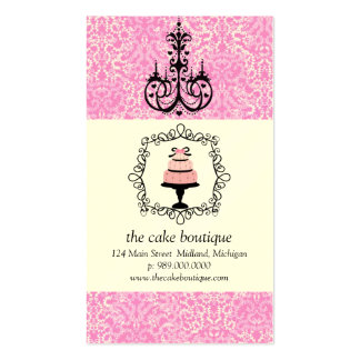 Cartes de visite de damassé de rose de fantaisie d modèles de cartes de visite