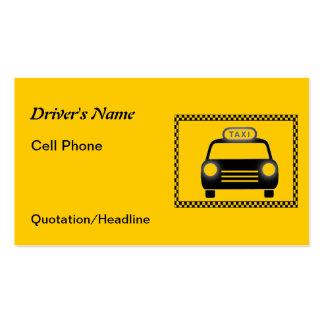 Cartes de visite de damier de chauffeur de taxi carte de visite standard