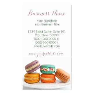Cartes de visite de Macarons Carte De Visite Standard