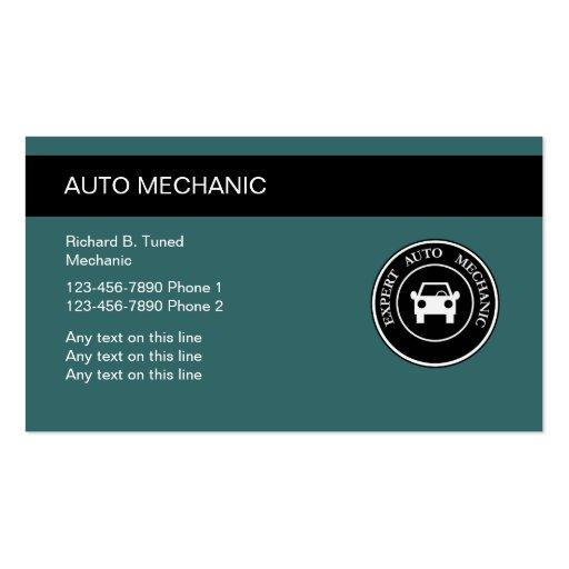 Cartes de visite de mécanicien automobile cartes de visite personnelles