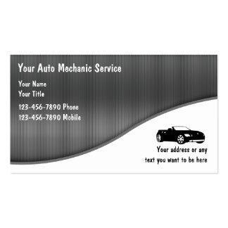 Cartes de visite de mécanicien automobile modèles de cartes de visite