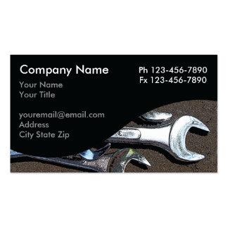Cartes de visite de mécanicien carte de visite standard