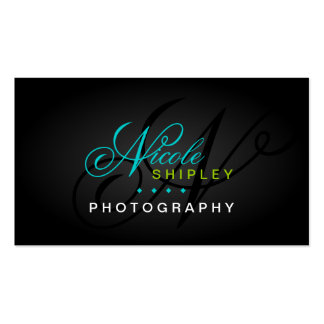 Cartes de visite de monogramme de photographie carte de visite