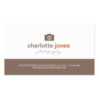Cartes de visite de photographie d'amour d'apparei carte de visite standard
