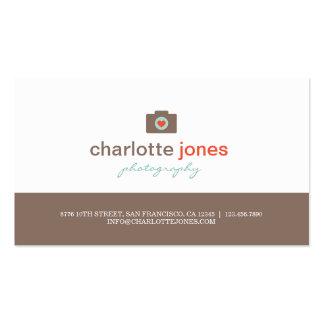 Cartes de visite de photographie d'amour d'apparei carte de visite