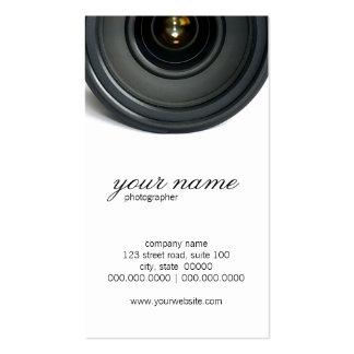 Cartes de visite de photographie d'objectif de cam carte de visite standard