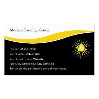 Cartes de visite de salon de bronzage carte de visite standard