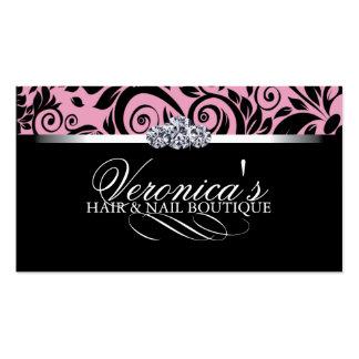 Cartes de visite de salon de cheveux et d ongle