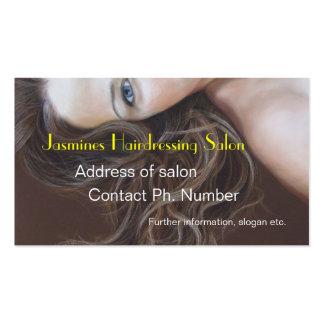 Cartes de visite de salon de coiffure de beaux-art carte de visite standard