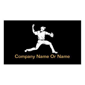 Cartes de visite de silhouette de base-ball cartes de visite personnelles