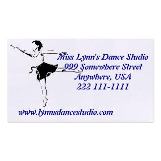Cartes de visite de studio de danse cartes de visite professionnelles