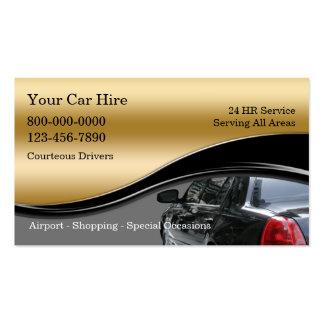 Cartes de visite de taxi modèles de cartes de visite
