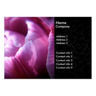 Cartes de visite de tulipe cartes de visite personnelles