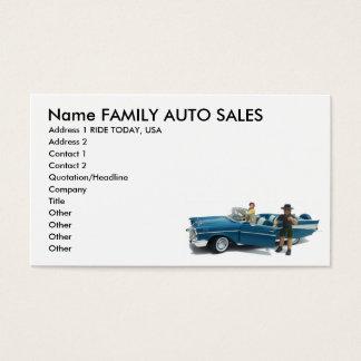 Cartes de visite de ventes automatiques