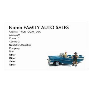 Cartes de visite de ventes automatiques carte de visite standard