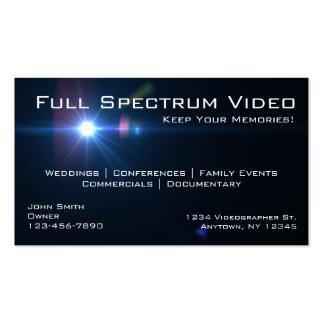 Cartes de visite de Videographer Cartes De Visite Personnelles