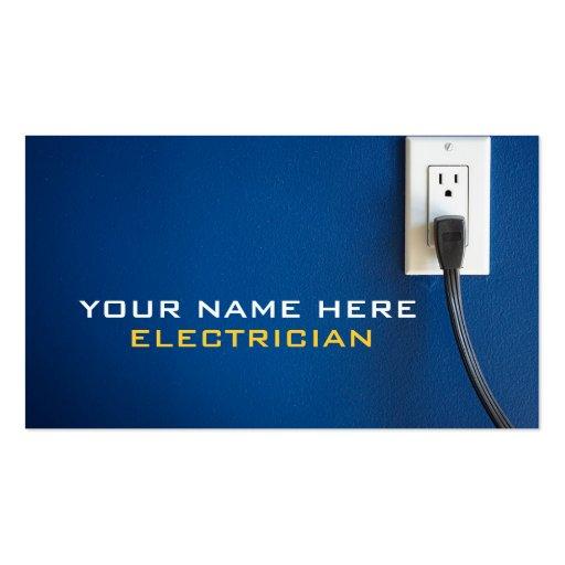 Cartes de visite d'électricien cartes de visite personnelles