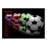 Cartes de visite d'entraîneur du football modèle de carte de visite